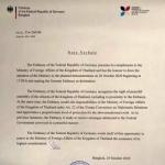 德国大使馆支持和平示威集会